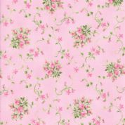 Moda - Sakura Park - 7189 - Pink Rose Buds on Pink - 33482-12 - Cotton Fabric
